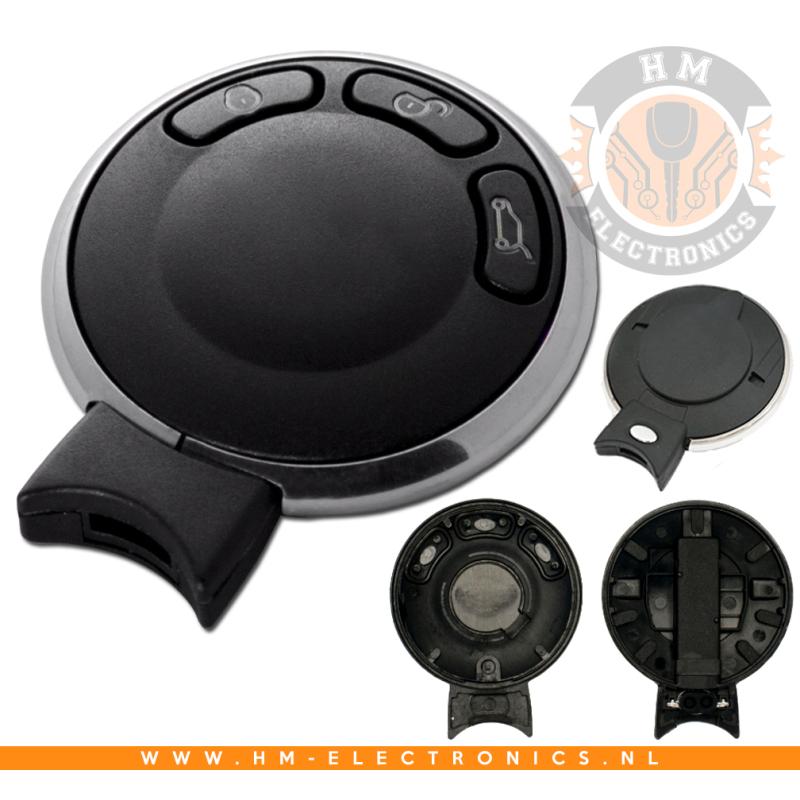 Mini Cooper One 3-knops SmartKey sleutel behuizing (034)