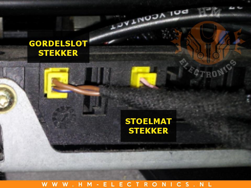 Mercedes CLK W208 1997-2003 Diagnostische Passagiersstoel Mat Sensor / Emulator - met pinnen
