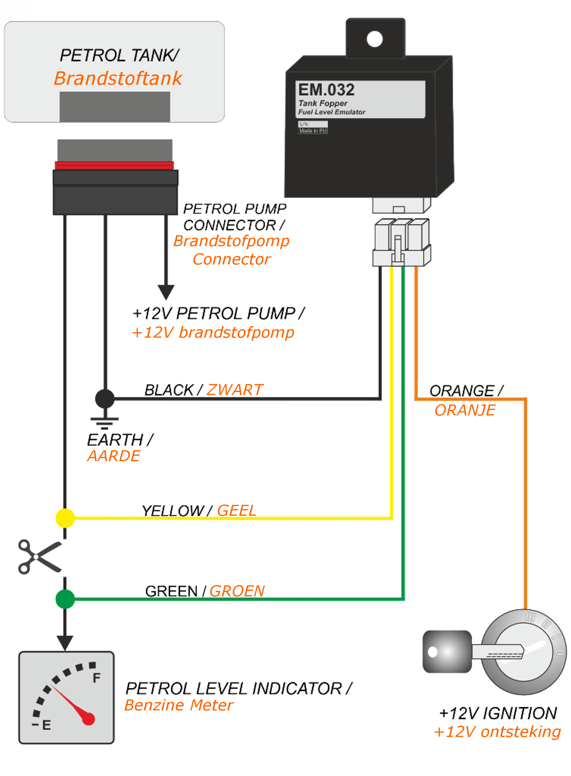 Brandstofniveau Emulator (EM.032.1)