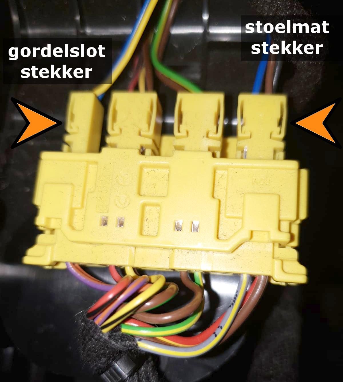 Mercedes B W246 2011+ Diagnostische Passagiersstoel Mat Sensor / Emulator - met pinnen