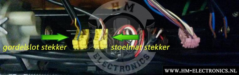 Mercedes SL W230 R230 2001-2012 Diagnostische Passagiersstoel Mat Sensor / Emulator - met stekker