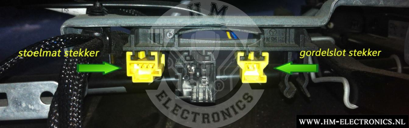 Mercedes CLK W209 2005-2009 Diagnostische Passagiersstoel Mat Sensor / Emulator - met stekker